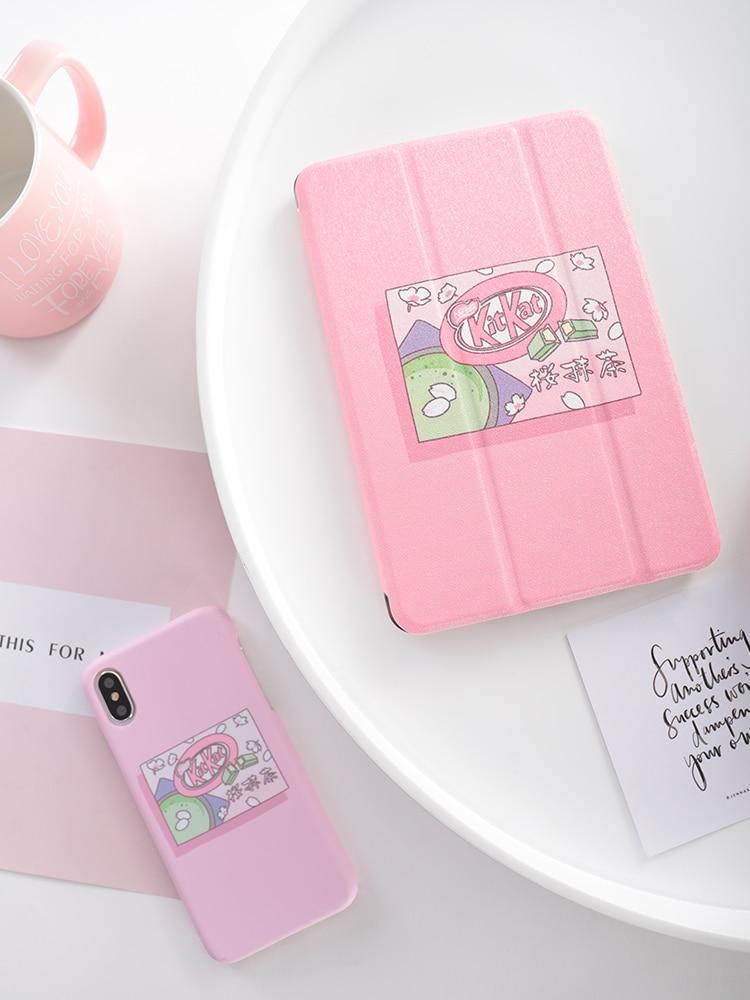Różowy dziewczyna przerzuć pokrywa dla iPad Pro 9.7 przez 11 10.5 12.9 2020 Air2 Mini 2 3 4 5 2019 Tablet etui dla nowego ipada 9.7 5th 6th 7th