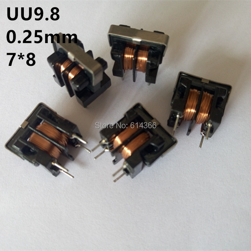 Induttore UU9.8 7 ~ 10mH 7*8mm di Modo Comune Choke Induttore Per Il Filtro 5PCS