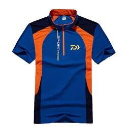 Camisa Da pesca DAIWA Esportes Ao Ar Livre Camisa Dos Homens de Roupas Camisas de Manga Comprida Respirável de Secagem Rápida Roupas De Pesca De Pesca DAWA