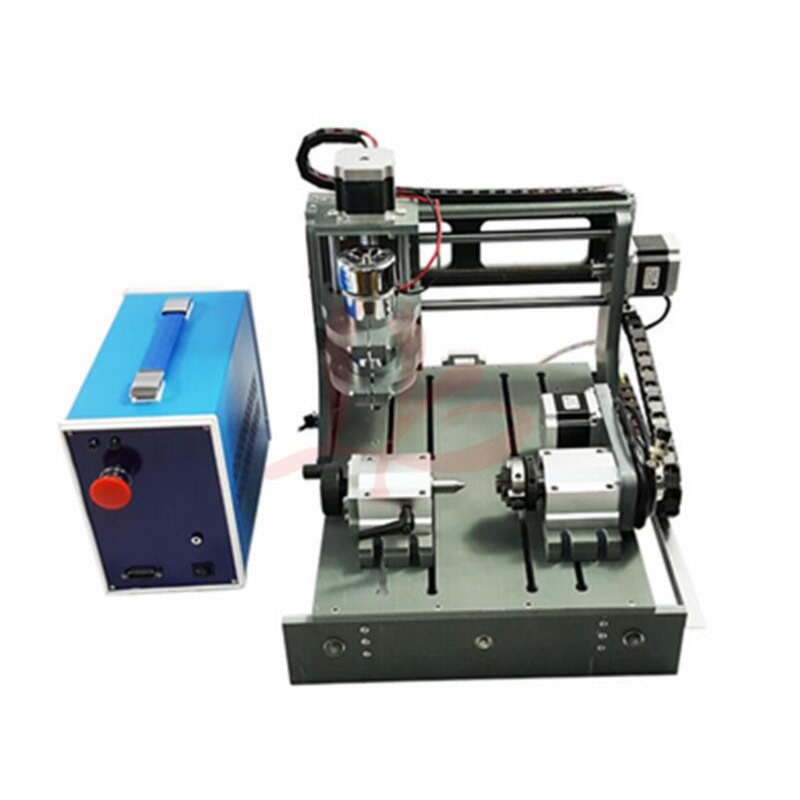 3D CNC راوتر 2030 300W 4 محور CNC نحت آلة قطع الخشب مصغرة مخرطة