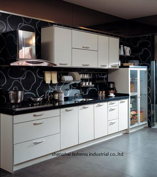 Gabinetes de cocina de melamina/mfc (LH-ME017)
