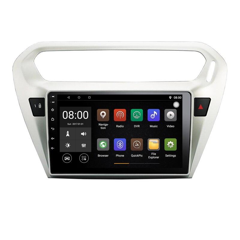 "10,1 ""HD Android 9,1 Quad Core reproductor de Radio DVD coche para Citroen Elysee 2014 Peugeot 301 soporte WiFi 3G autobús RAM 1G ROM 16G"