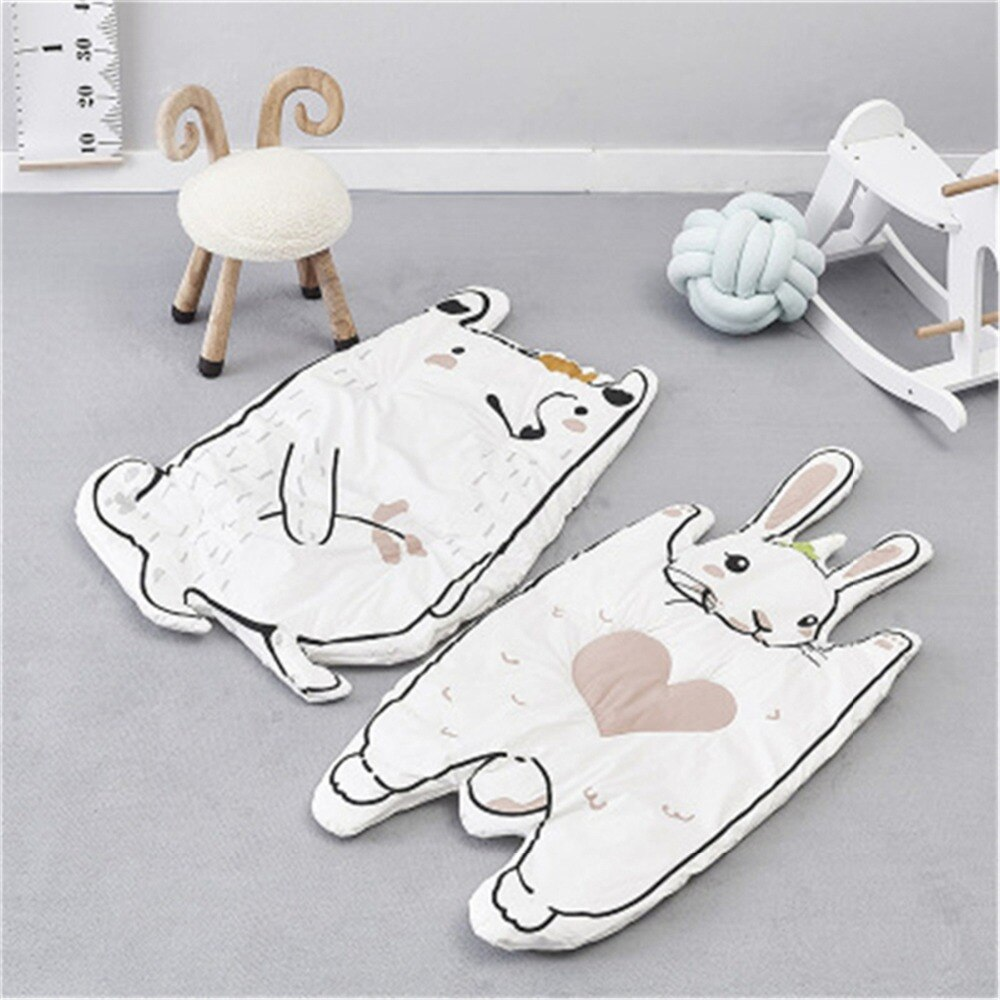 Eva2king Cute Animal Play Mat conejo mapache bebé alfombra para niños Playmat Infantil Tapis Enfant Dywan Dla Dzieci