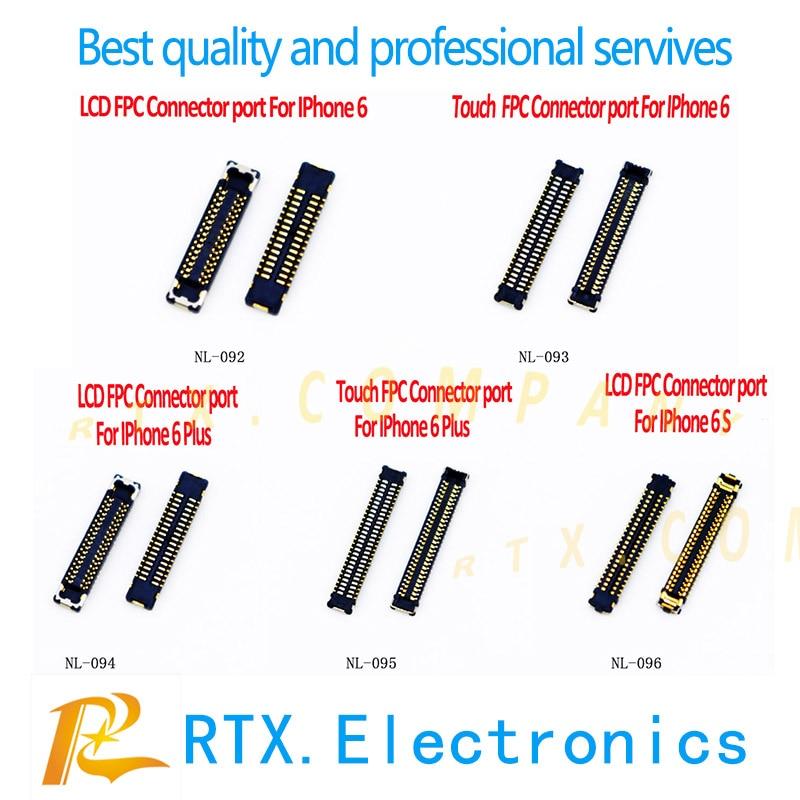 20 unids/lote pantalla LCD digitalizador pantalla & Touch FPC enchufe conector Puerto en Cable flexible para IPhone 5S 6 6 plus 6s 6sp 7P 8 8 X