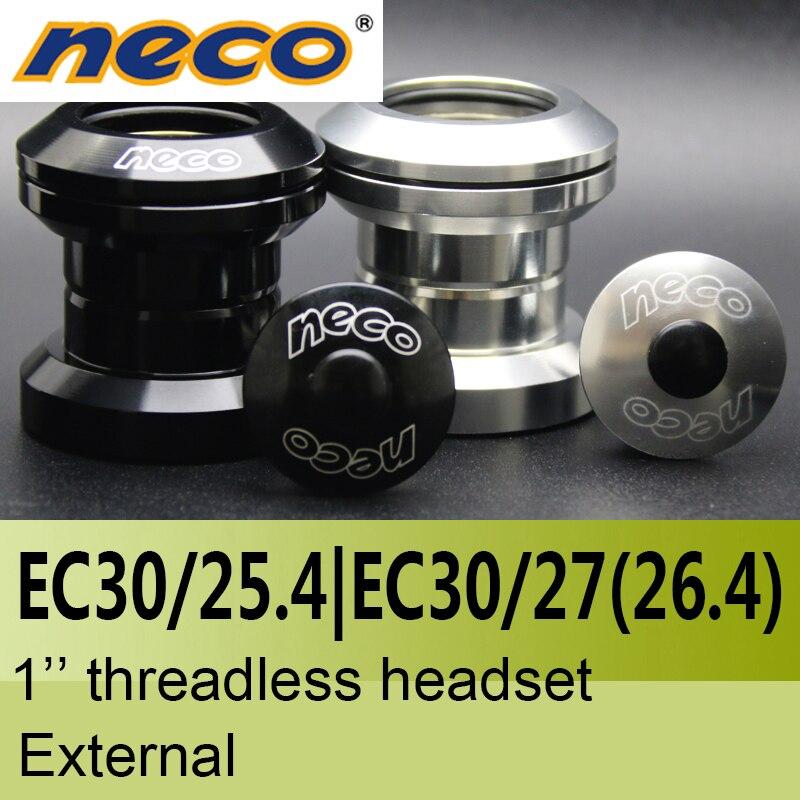 Neco Headsets Threadless 1 inch EC30 / 25.4  EC30 / 27 mm  26.4 Height 29mm  external Bearing steel Headsets 30 mm