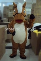 high quality mascots lovely brown horse adult mascot costume for festival for halloween party event