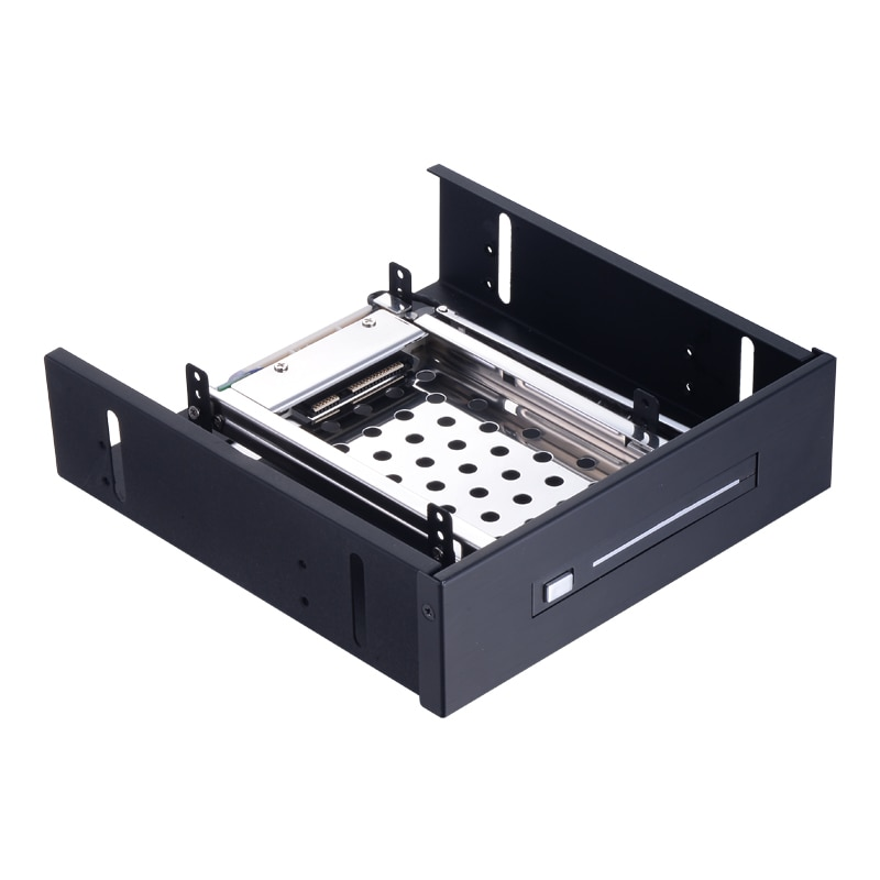 Uneatop 2.5in SATA  aluminum case  to 5.25 bay ssd adapter hdd swap internal enclosure hdd mobile rack
