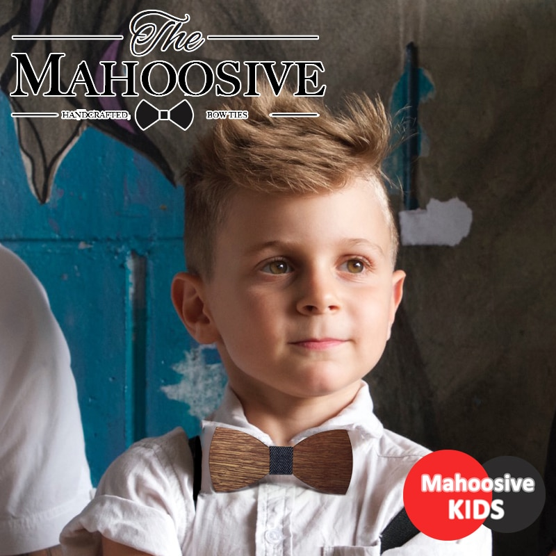 Baby Boys Girls Bowtie Kids Wooden Bow Ties necktie Small Size Butterfly  School Child Student bow tie Cravat Gravatas COMBO
