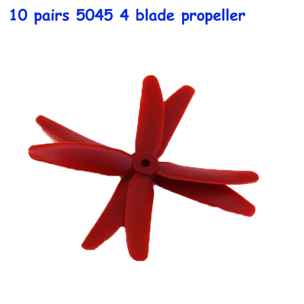 10 pairs FPV 4 blade propeller 5045 CW/CCW X50404 Props for kit 200-320 enlarge