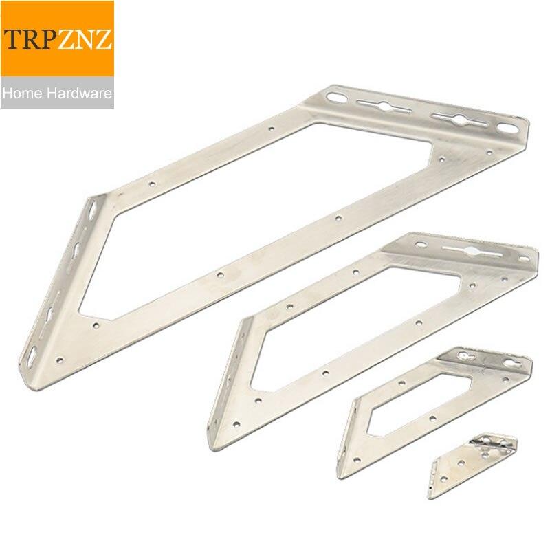 Esquina multifuncional de acero inoxidable para muebles, conector, ángulo fijo de tres lados, soporte para estantes, hardware para muebles