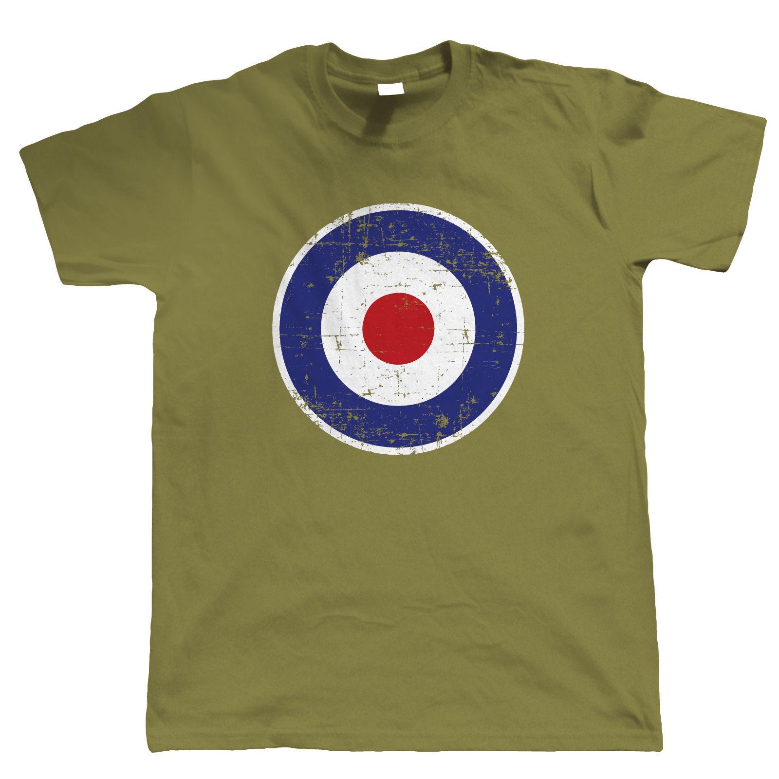 Gran oferta 2019, 100% Retro de algodón, modelo RAF Target, camiseta de Scooter para hombre, regalo para papá él