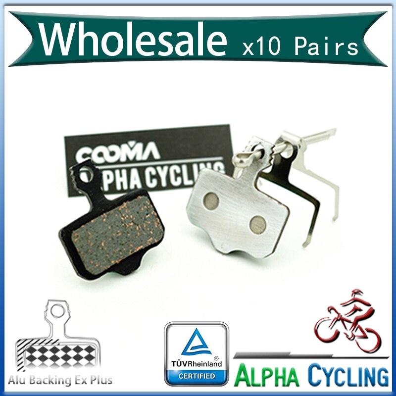 Pastillas de freno de disco de bicicleta para SRAM DB5, DB3, DB1 Avid Elixir freno de disco, respaldo de aleación de aluminio, 10 pares