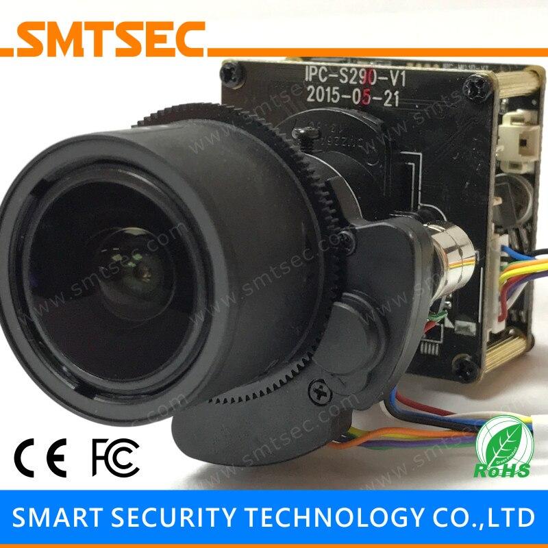 """ONVIF-Zoom motorisé 3 mp 1/2.8 """"HD 2 mp 1080P SONY IMX290 Hi3516D   Panneau de PCB, Module de caméra IP CCTV Audio USB avec objectif motorisé de 6 à 22mm"""