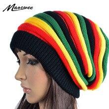 Casquette Bob jamaïcaine Rasta Reggae   Casquette, Hip Hop, bonnet multicolore rayé, chapeaux pour hommes femmes, nouveau style masculin, Gorros touca