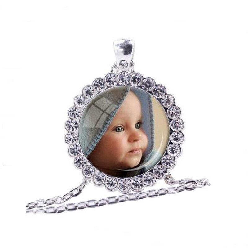 Personalizar foto colgante foto de Collar personalizado de tu bebé niño mamá papá abuelo amado un regalo para el regalo de miembro de la familia