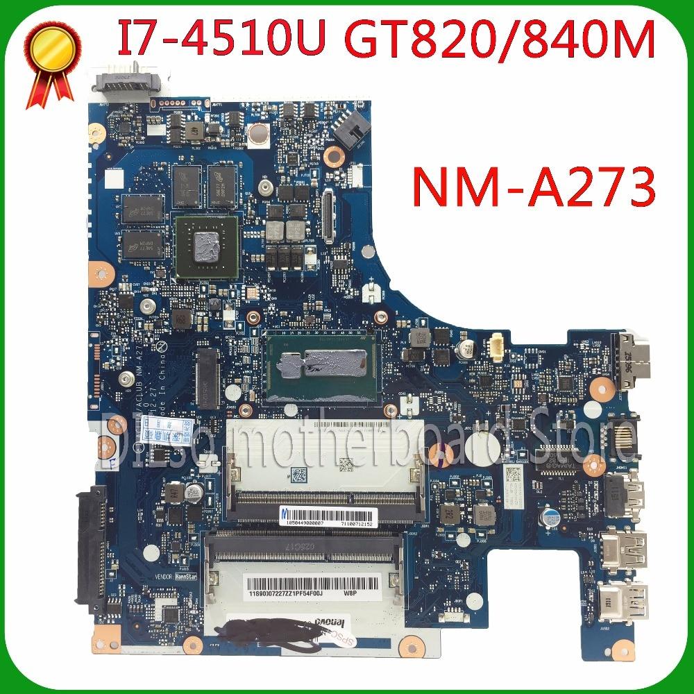 KEFU G50-70M Per Lenovo G50-70M G50-70 Z50-70 i7-4510u scheda madre ACLUA/ACLUB NM-A273 Rev1.0 di Prova spedizione gratuita