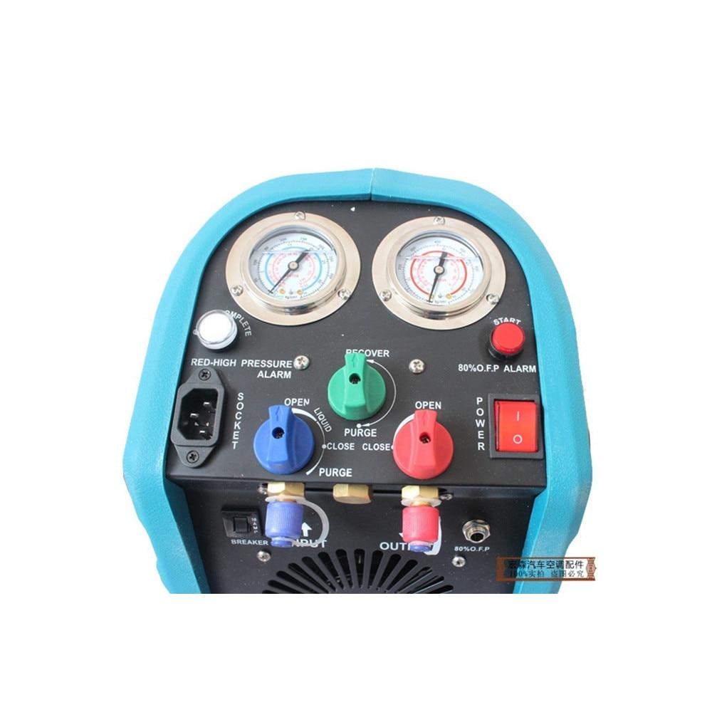 Máquina de recuperación de refrigerante de aire acondicionado, máquina de carga de compresor refrigerante, manual de operación de unidad de recuperación de refrigeración