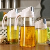 boxi kitchen glass oil bottle dispenser automatic opening closing home bottles for oil and vinegar honey olive oil container