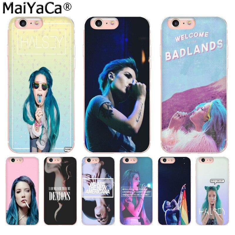 MaiYaCa Halsey colores letras de la cubierta de la caja del teléfono para iphone SE 2020 11 pro 8 7 66S Plus X 5S SE XR XS MAX cubierta