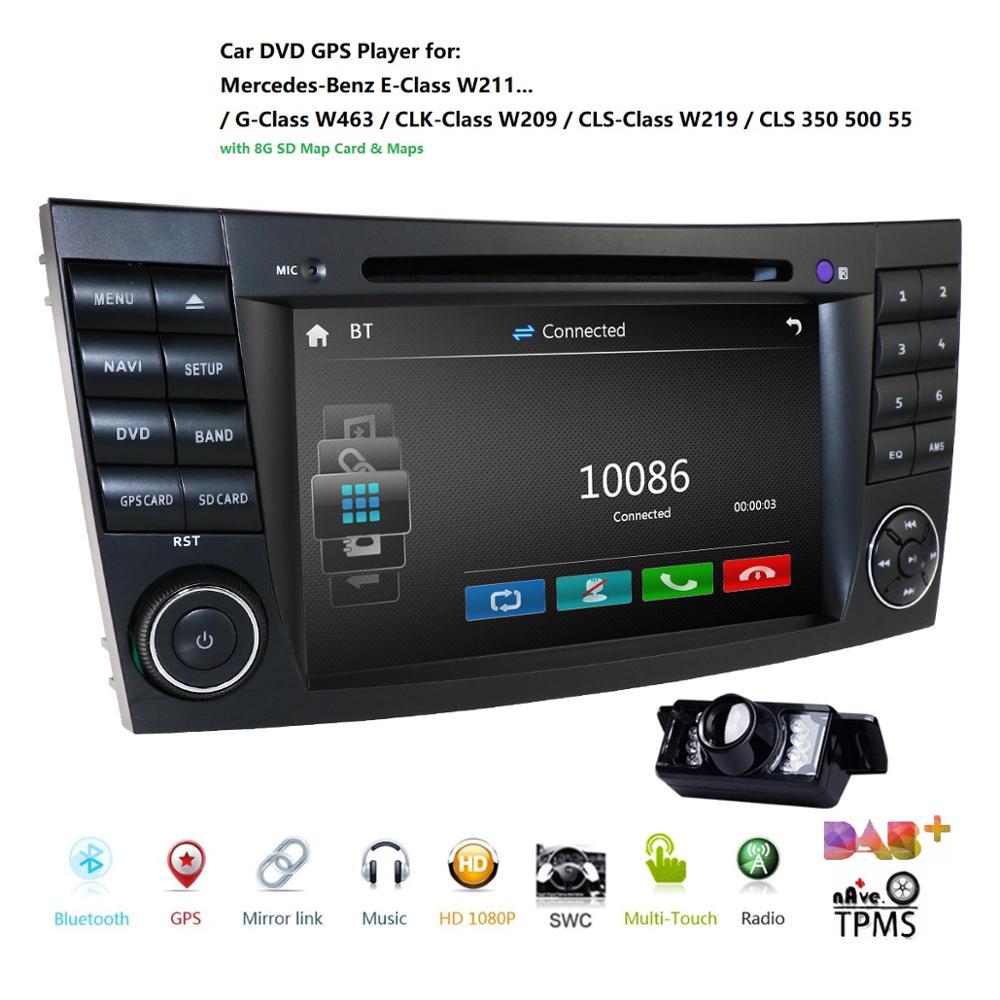 GPS para coche para Mercedes W211 W219 W463 CLS350 CLS500 CLS55 E200 E220 E240 coche reproductor de dvd multimedia monitor headunit Radio Moto cam