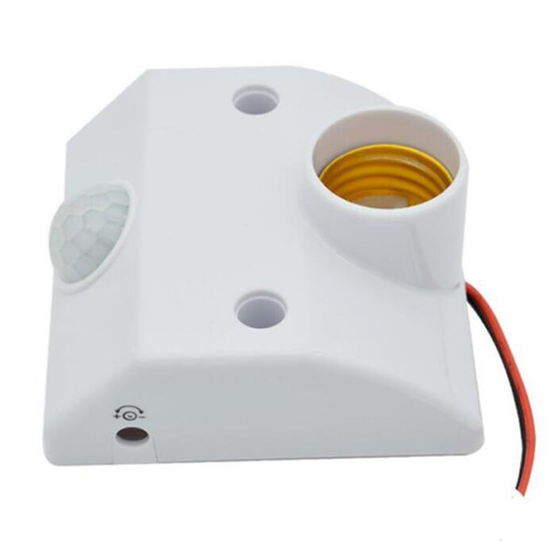 Venta caliente AC110V-250V E27 Base automático cuerpo Sensor de infrarrojos IR Detector de movimiento PIR lámpara 80 W E27 Sensor de titular