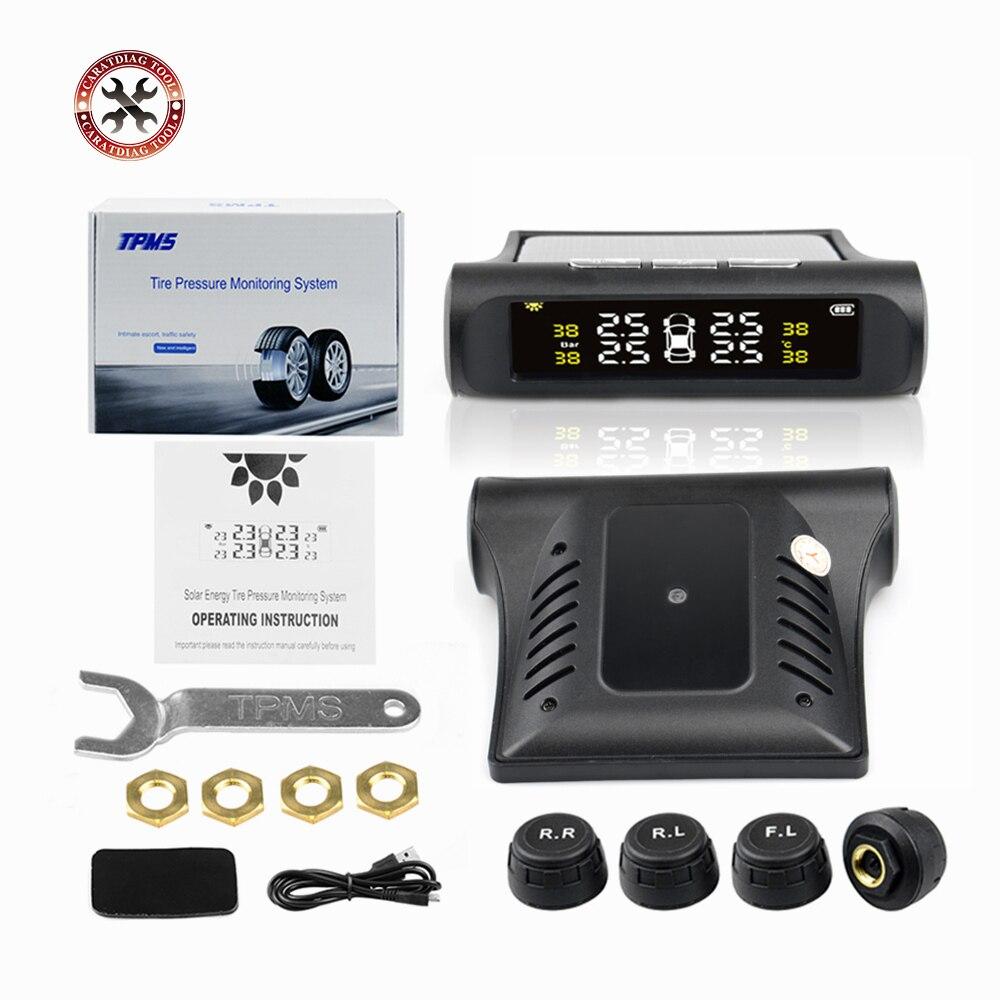 Monitor de alarma de presión de neumáticos para coche TPMS, sistema de presión de neumáticos, Monitor de presión de neumáticos de advertencia 4 uds, Sensor externo de neumáticos de coche