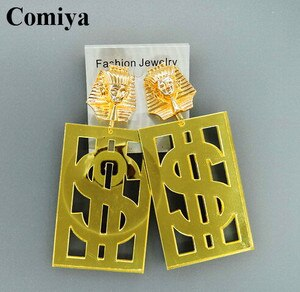 New fashion female earrings brincos long Cleopatra dollar pendientes Summer punk style earring for perfume women