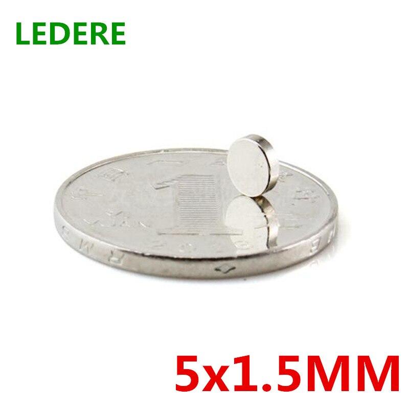 Небольшой круглый магнит NdFeB, 200 шт., 5x1,5, супермощный магнит, магнит, крошечные магниты, неодимовые магниты, мм