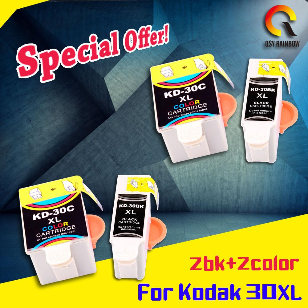 4 Color 2set de Compatible para kodak 30 kodak30 cartucho de tinta para reemplazar kodak Oficina 2150 cartucho de tinta kodak 30 xl