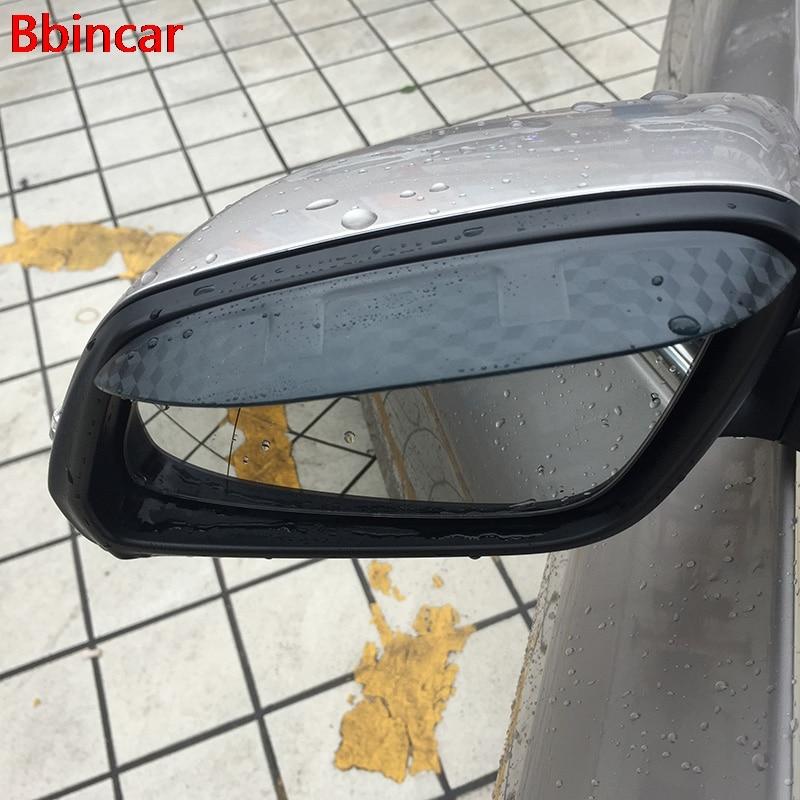 2 uds espejo retrovisor de coche cubierta de escudo Protector de cejas Flexible de PVC Accesorios para NISSAN TIIDA Qashqai Morano X TRAIL