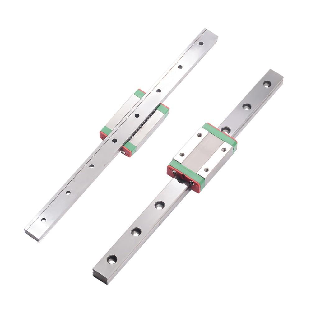 Линейная рельсовая направляющая, MGN7/MGN12/MGN15/MGN9, 300/350/400/450/500/600/800 мм, направляющие MGN9 1 шт.-каретки MGN9Н 1 шт.