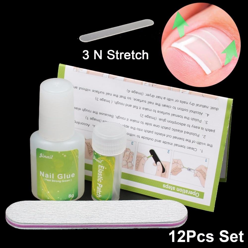 12 pcs Ingrown Toenail Ingrown Toenail Pedicure Tool Straightening Clip Curved BS Brace With Glue Kit for Toenails Toe nail