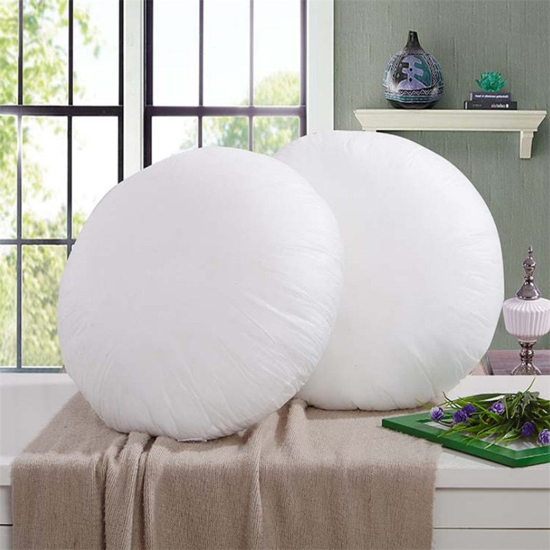 40cm/45cm White Round Nonwoven Soft Cushion Insert Pillow Inner Filler Cushion Filling Home Decoration Christmas Gift