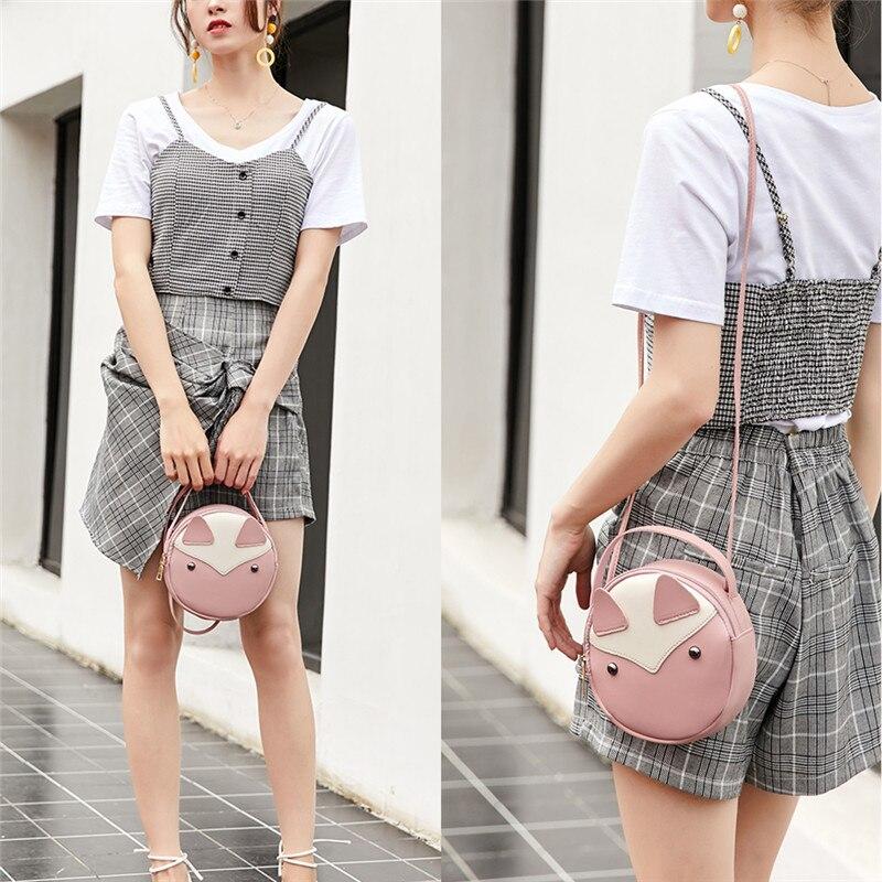 NOENNAME_NULL Women Girl Tote Messenger Bags Lady PU Hand Bag Shoulder Bag Purse
