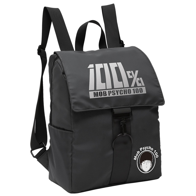 Cartoon Mob Psycho 100 Anime Game Casual Backpack Rucksack Flip Backpacks Bagpack Travel Laptop School Book Bags