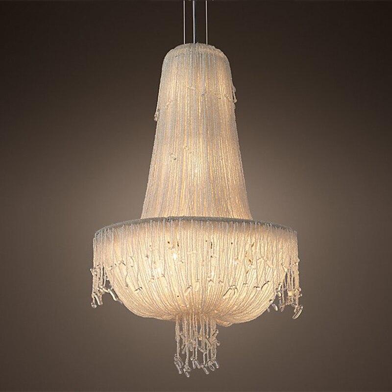criativo jellyfish lustre grande bonito estilo frances suspensao luz para sala de
