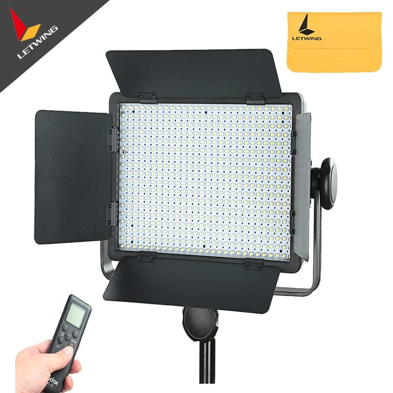 Godox 500 LED de vídeo de estudio lámpara de luz continua para cámara DV videocámara 3300 K-5600 K-intercambiable
