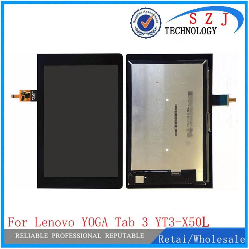 Nueva pantalla LCD de 10,1 pulgadas para Lenovo Yoga Tab 3 YT3-X50L + montaje de lente de cristal de Digitalizador de pantalla táctil envío gratis