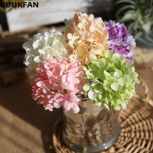 Розовые шелковые гортензии, искусственные цветы, свадебные цветы для невесты, шелковые гортензии, искусственные цветы, белое украшение для дома