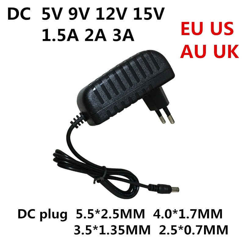 DC 5V 9V 12V 15V 1.5A 2A 3A Universal power adapter AC 100-240V Converter Adapter Charger Power Supply EU US AU UK Plug