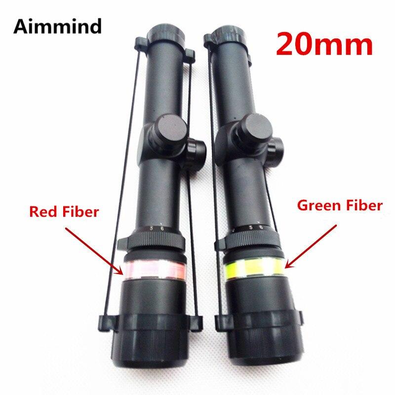 1,5-6x24 verde táctico o rojo Rifle de fibra óptica triángulo iluminado Visor de Rifle telescópico para caza de Rifle