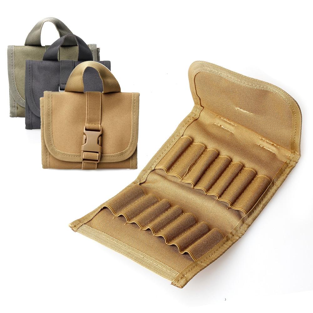 Kosibate Nylon Ammo Pouch Cartridge Belt Carrier Bag for Shot gun Holder Case Tactical Hunting Rifle Ammo Pouch cartucheras