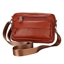 Vintage en cuir de vache hommes Messenger sacs décontracté sac à bandoulière affaires hommes sac à main sacs cadeau hommes petite mallette téléphone poche