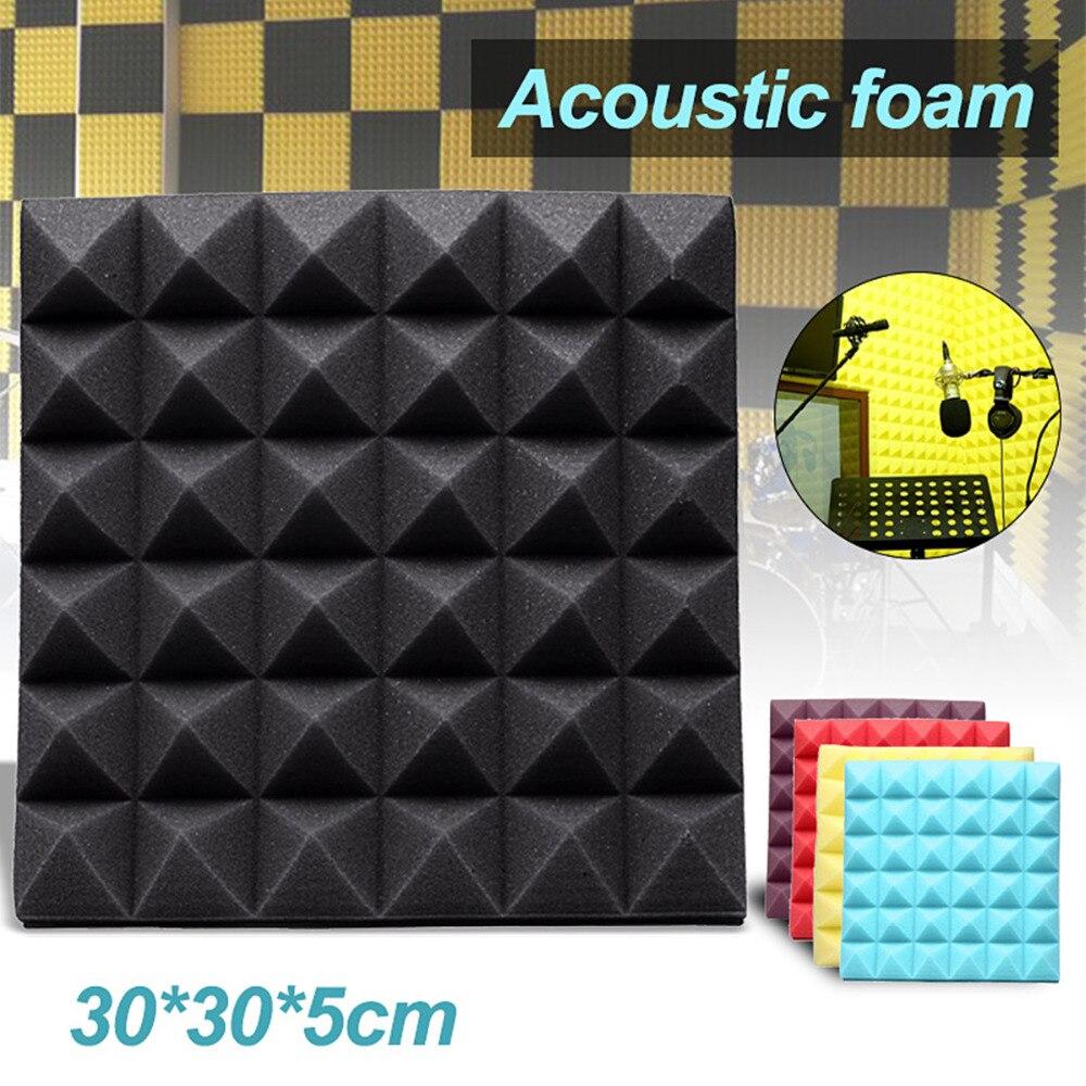 30x30x5cm aislamiento de espuma de absorción de sonido esponja para estudio de grabación acústico aislamiento de ruido-De algodón absorbente Pad