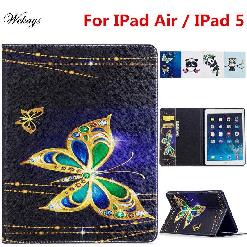 Чехол Wekays для Apple IPad Air, IPad 5, 9,7 дюйма, мультяшная панда, кожаный флип-чехол для IPad Air, IPad 5, Защитные чехлы для планшета IPad5