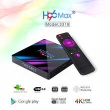 Android 9.0 H96 Max 3318 Smart TV Box 2.4G/5G Dual Band Wifi RK3318 Bluetooth 4.0 H96Max 4G 32G/64G 4K HDR Mini Scatola di Display A LED