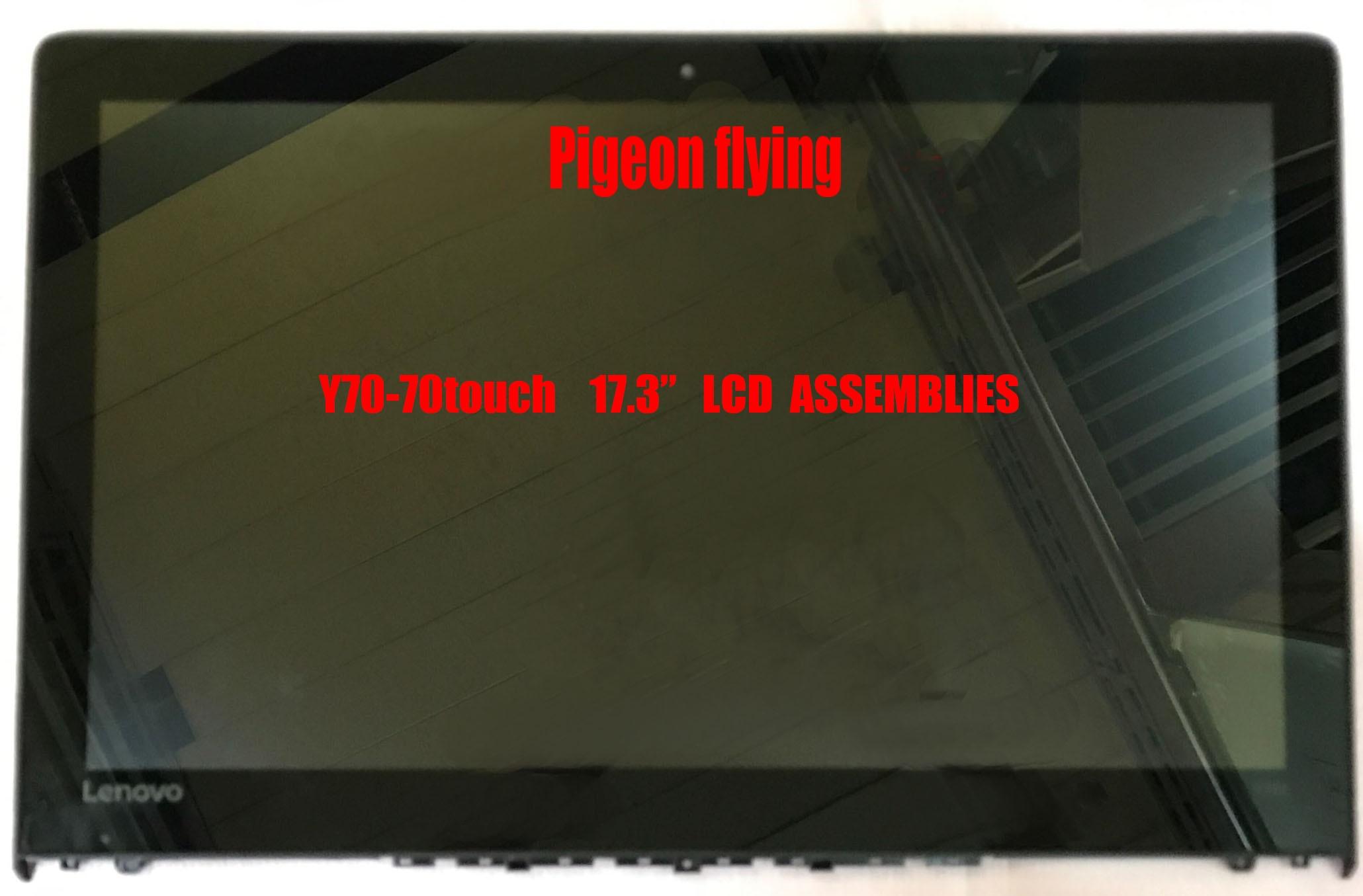 """Nowy 80DU dla lenovo y70-70 dotykowy LCD do laptopa zespoły, ekran LCD 17.3 """"LP173WF4 (SP) (F1) FRU 5D10G59769"""
