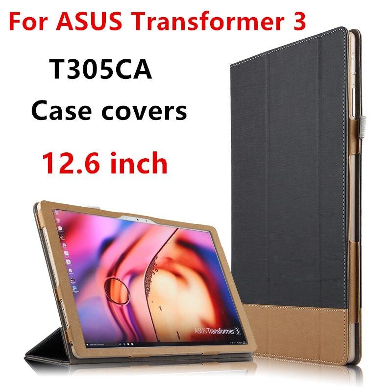 """HUWEI Fall Für ASUS Transformator 3 Schutz Smart cover Leder Tablet PC Für Asus T305CA t305 Fällen 12,6 """"PU schutzhülle"""