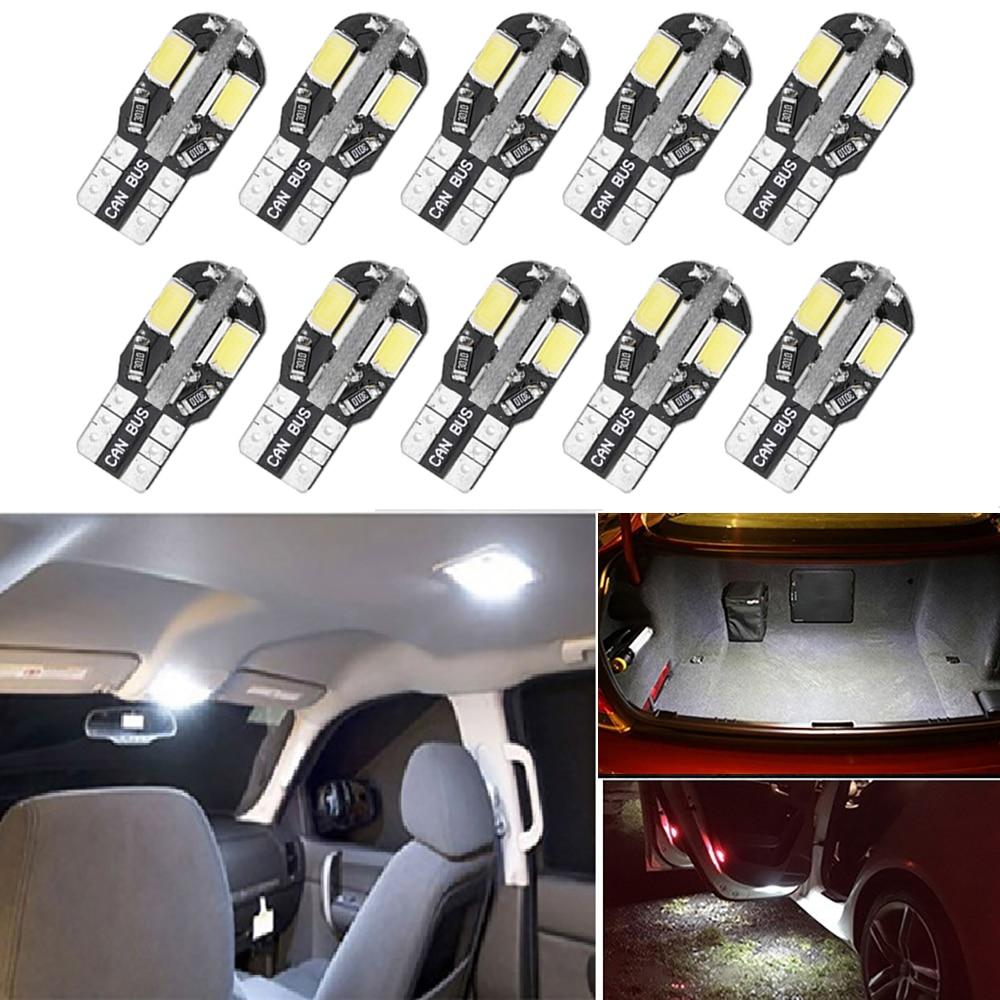 10x T10 W5W светодиодные лампы Canbus для Ford Mondeo MK3 MK4 Focus 2 MK2 Fiesta Fusion Ranger C-max S-max Kuga F150