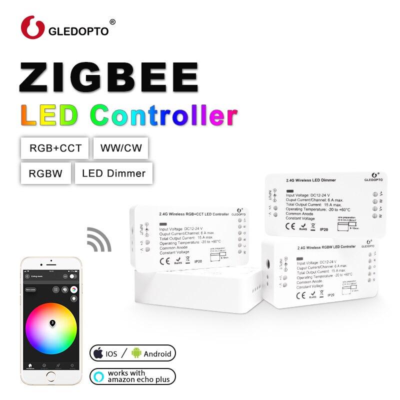 Контроллер для светодиодных лент OPTO ZIGBEE RGB + CCT WW/CW управление через приложение zll